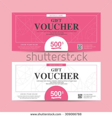 Vector Illustration,Gift Voucher Template With Colorful Pattern,cute Gift  Voucher Certificate Coupon Design