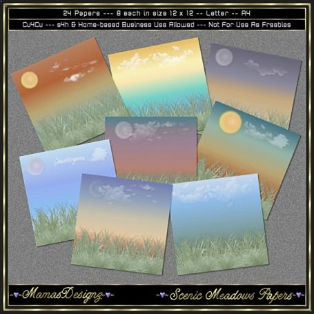 #Scenic #Meadows #Paper #Pack - http://luvly.co/items/4006/Scenic-Meadows-Paper-Pack
