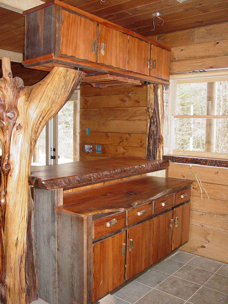 Cool Wood Countertops | ... Wood Natural Wood Countertops Cedar Logs And  Hickory Log
