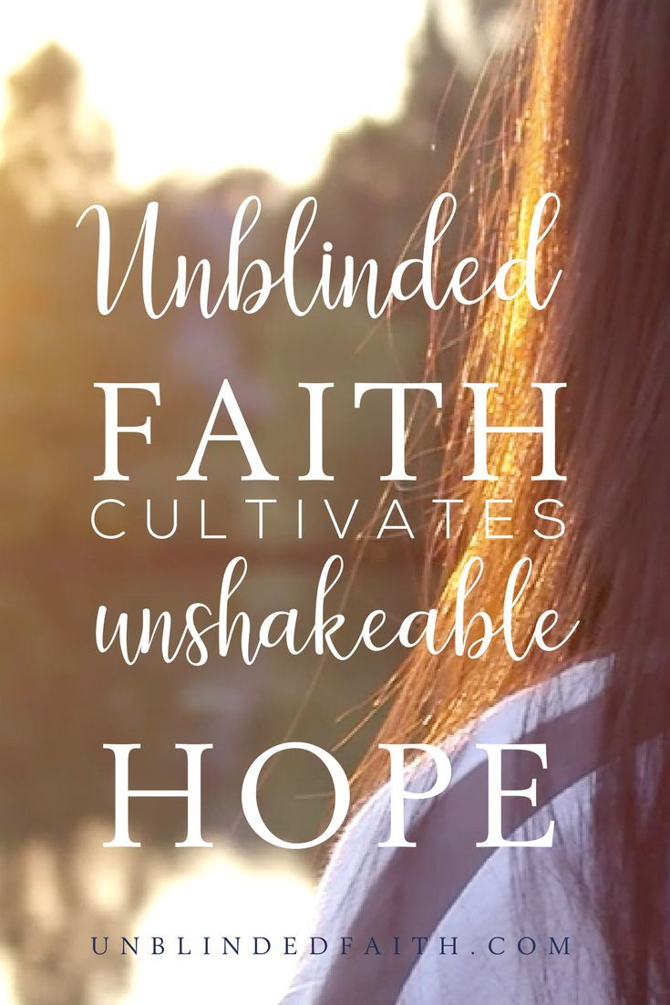 Let the Journey of Living with Unblinded Faith Begin | Christian  encouragement, Christian inspiration and Spiritual growth