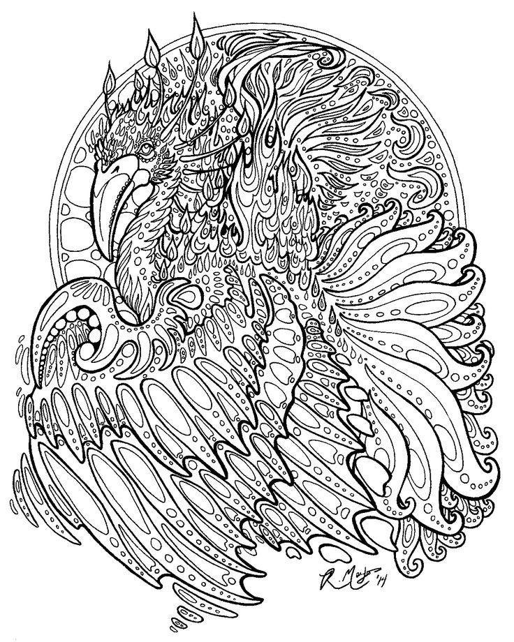 17 best images about zentangle birds on pinterest hummingbirds tangled and birds - Mandala de dragon ...