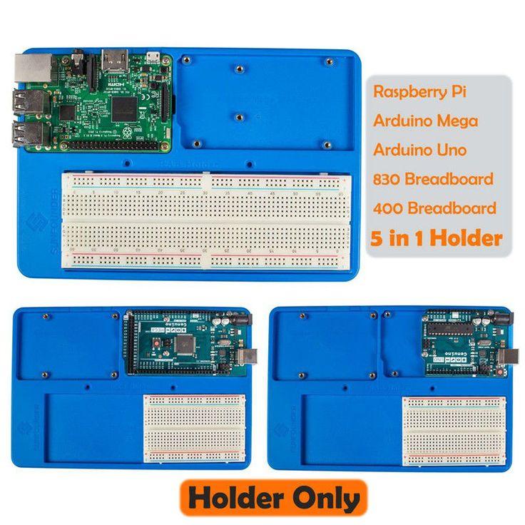 SunFounder RAB 5 in 1 Pemegang Pelat Dasar Papan Sirkuit Papan Tempat Memotong Roti sekrup untuk Arduino Uno R3 Mega 2560 Raspberry Pi 3 Model B