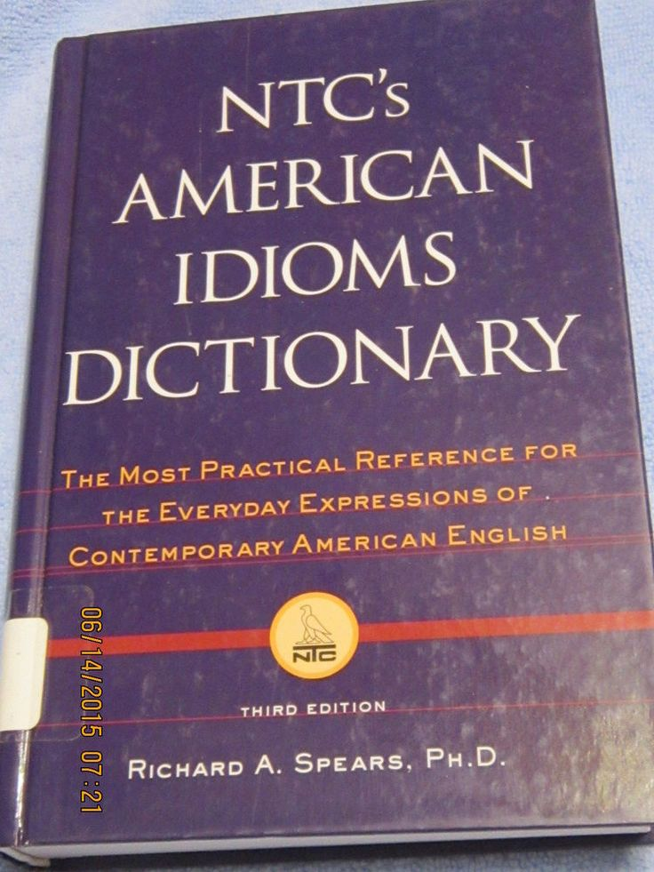 NTC's American Idioms Dictionary Reference 3rd Edition 2000 Hardcover Ex-Library