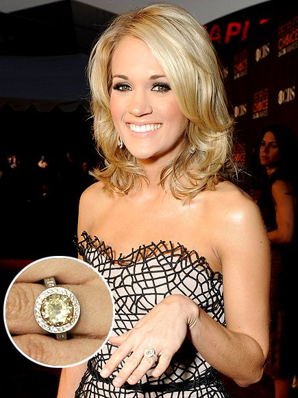 Carrie Underwood- love her HAIR mostly but also her makeup, dress, & ring :)