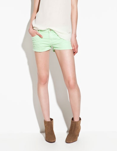 NEON SHORTS - Trousers - TRF - ZARA United States