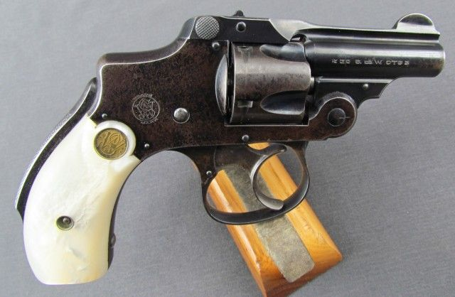 S&W  32 Safety Hammerless Bicycle Gun with Factory Pearl