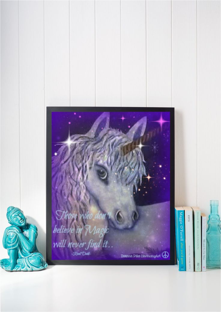 Printable Poster 8 x 10  BELIEVE in UNICORNS by HarmonydeePeaceArt on Etsy