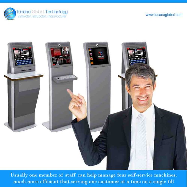 Usually one member of #staff can help manage four self-service #Kiosk #machines, much more efficient that serving one #customer at a time on a single till. #TucanaGlobalTechnology #Manufacturer #HongKong