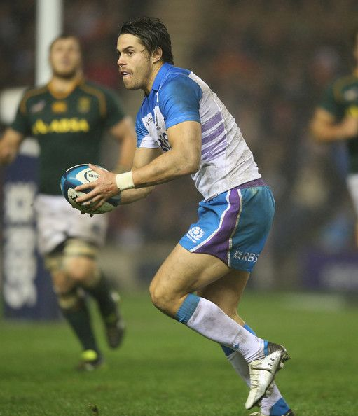Sean Maitland of Scotland runs with the ball during the International match between Scotland and South Afrca at Murrayfield Stadium on November 17, 2013 in Edinburgh, Scotland. - Scotland v South Africa - International Match