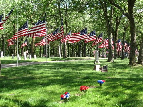 Avenue of Flags in Detroit Lakes, MN | Far Side of Fifty
