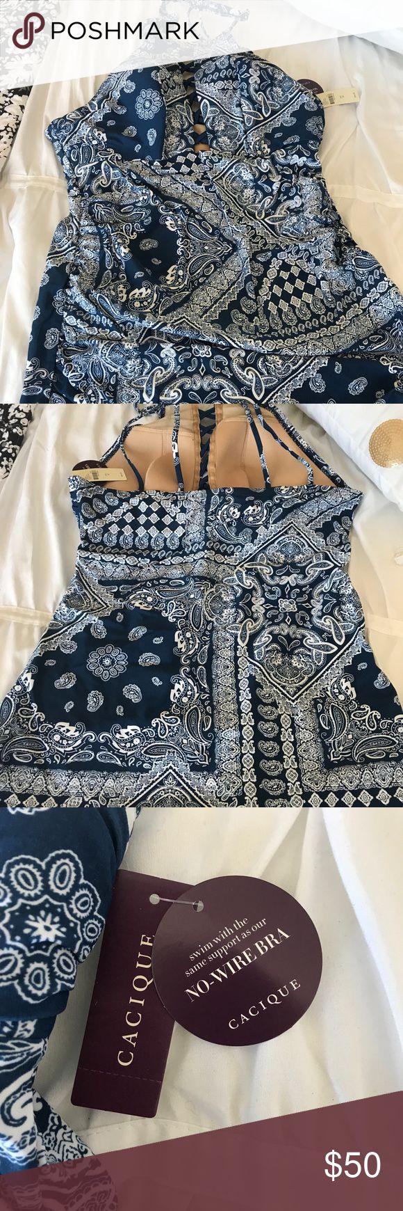 Too swim suit, from Lane Bryant Blue and white, brand new Tankini. Lane Bryant Swim