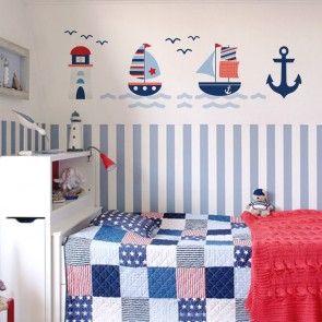 Para o quarto do seu pequeno: Adesivo de Parede Náutico!   istickonline.com