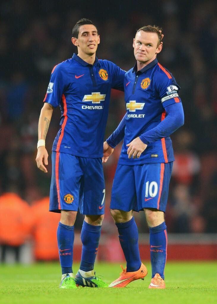 Angel Di Maria and Wayne Rooney