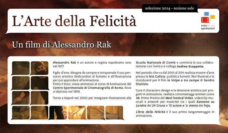 L'Arte della Felicità di Alessandro Rak, il film evento speciale alla 70ª Mostra internazionale d'arte cinematografica di Venezia e selezionato dalla Rete Degli Spettatori per la SEZIONE SALE 2014