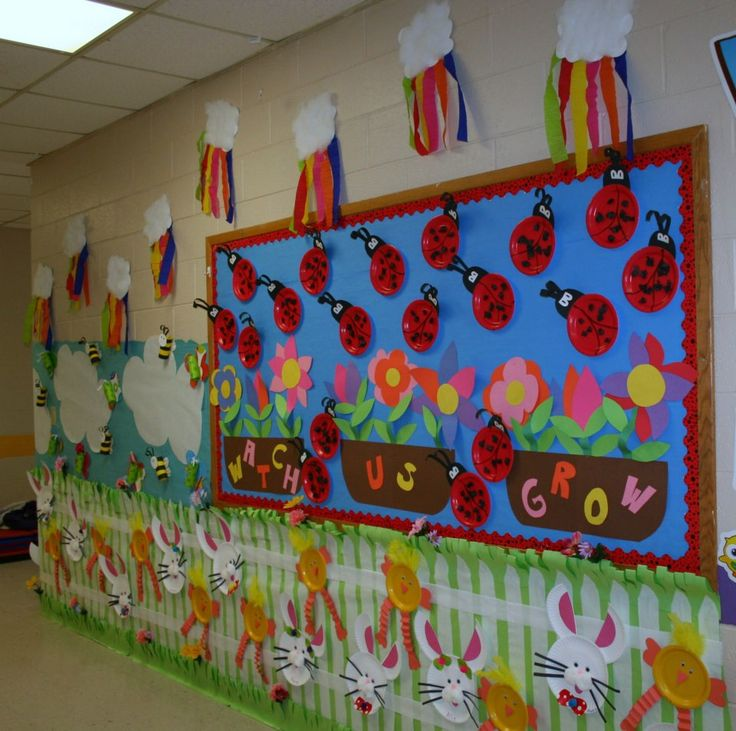 Classroom spring hallway decoration classroom crafts for Art and craft for school decoration