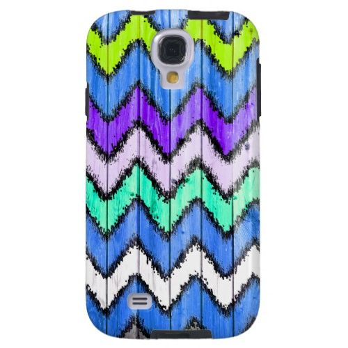 Andes Tribal Aztec Teal Chevron Ikat Wood Pattern from Zazzle.com
