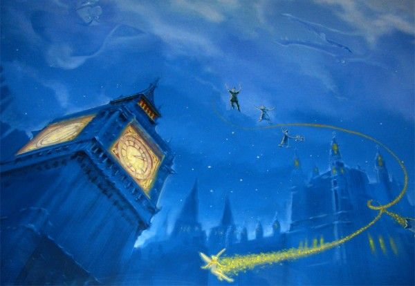 When I have a son, his theme will be Peter Pan. This is a ceiling mural! I'M SO HAPPY I WAS AN ART MAJOR!