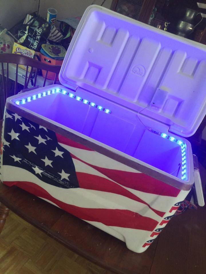 american flag cooler lights