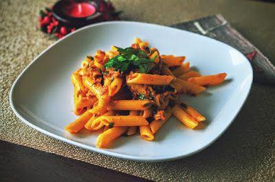 Fit & Fast Kitchen: Penne z sosem tuńczykowo-pomidorowym