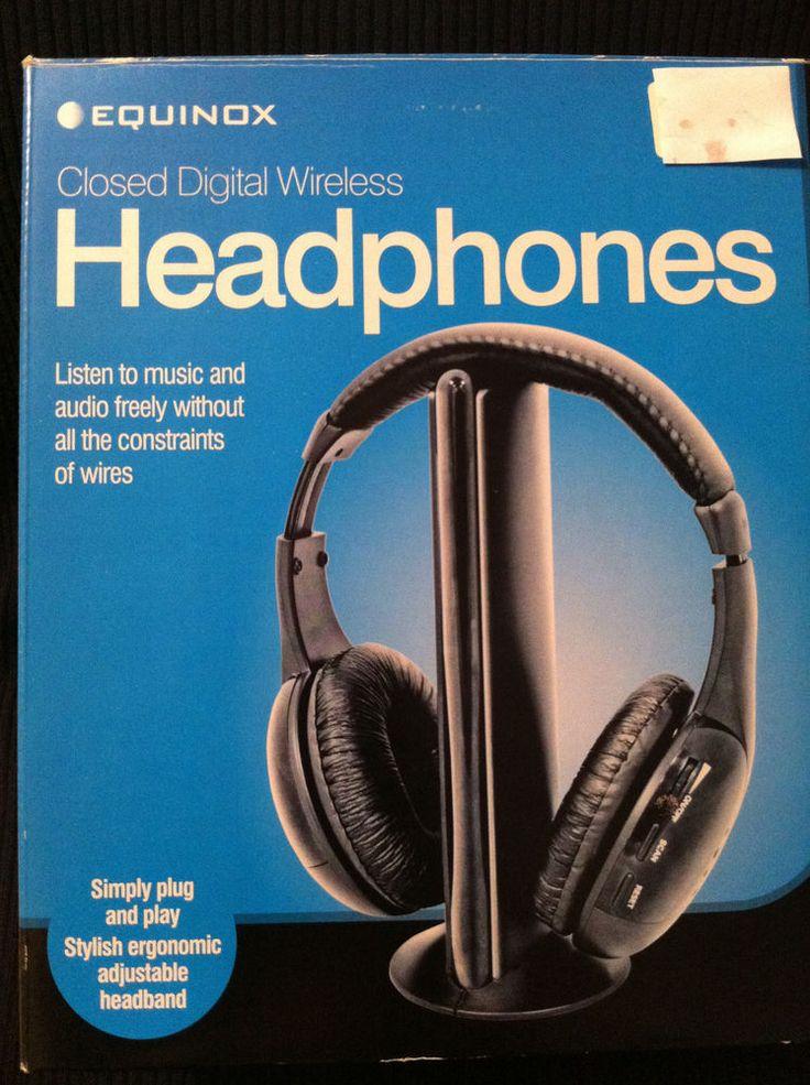 EQUINOX Closed DIGITAL WIRELESS HEADPHONES. Plug Play. Ergonomic Headband. BNIB