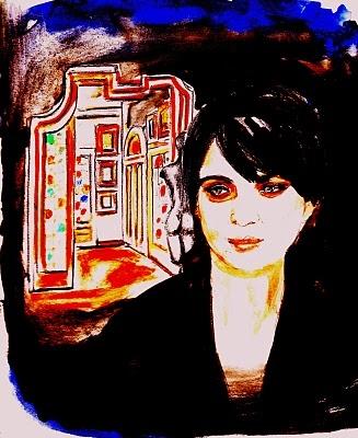 """""""(Profilo n. 2). La stanza dell'arte"""".     Certe volte mi ritrovavo a camminare quasi in punta di piedi entrando in casa della signorina Adelaide, dopo che una mano invisibile aveva fatto scattare il meccanismo di apertura del portone.... (di Bruno Magnolfi - illustrazione di Giulia Tesoro)"""