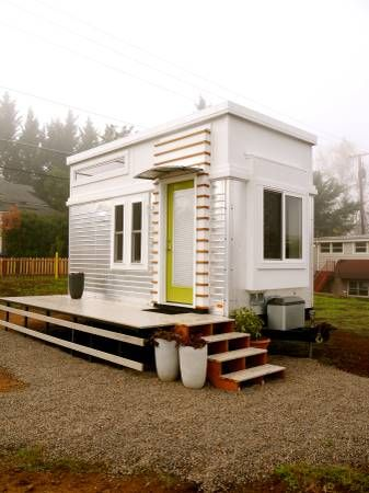 Tiny House Modern modern tiny home to connect with us and our community of people from australia 200 Sq Ft Modern Tiny House On Wheels Tiny House Treasures Pinterest Lots Of Windows Tiny House On Wheels And Wheels For Sale