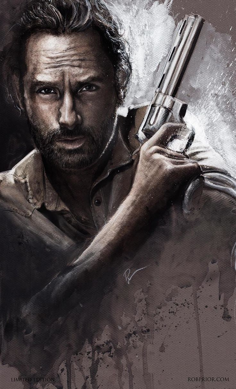 Walking Dead Artwork   RICK/THE WALKING DEAD ART PRINT BY ROB PRIOR
