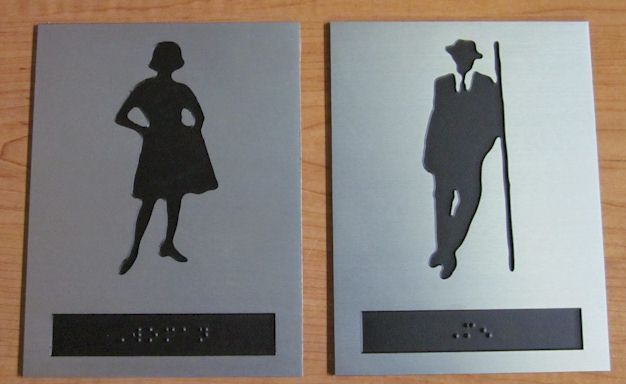 Stylish cool restroom signs memorial plaques pinterest for Cool bathroom signs