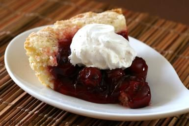 Easy Cobbler Crust Cherry Pie - Diana Rattray