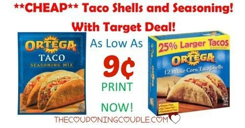 **PRINT NOW** Get Ortega Taco Seasoning for only 9¢ at Target! Get CHEAP Taco shells too! Stock the pantry!  Click the link below to get all of the details ► http://www.thecouponingcouple.com/target-deals-ortega-taco-seasoning-0-19-taco-shells-1-06/ #Coupons #Couponing #CouponCommunity  Visit us at http://www.thecouponingcouple.com for more great posts!