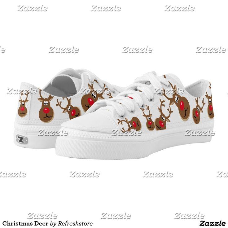 Christmas Deer Low-Top Sneakers
