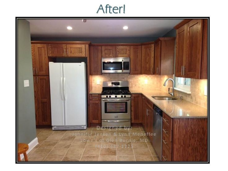 AFTER Aster Kitchen Shenandoah Mission Oak Cabinets Quartz Countertop Natura