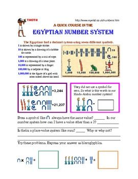This is a companion worksheet designed to reinforce and provide more practice for the skills introduced in the Egyptian Number System 23 slide Power Point Presentation.  There are also more stories and facts about Ancient Egypt.