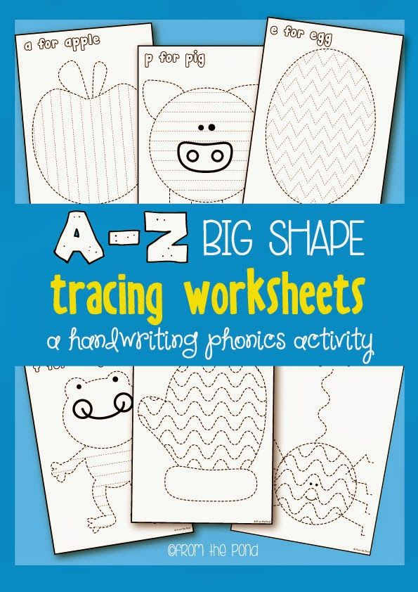 A-Z Big Shape Tracing Worksheets: A Handwriting Phonics Activity (from Frog Spot)