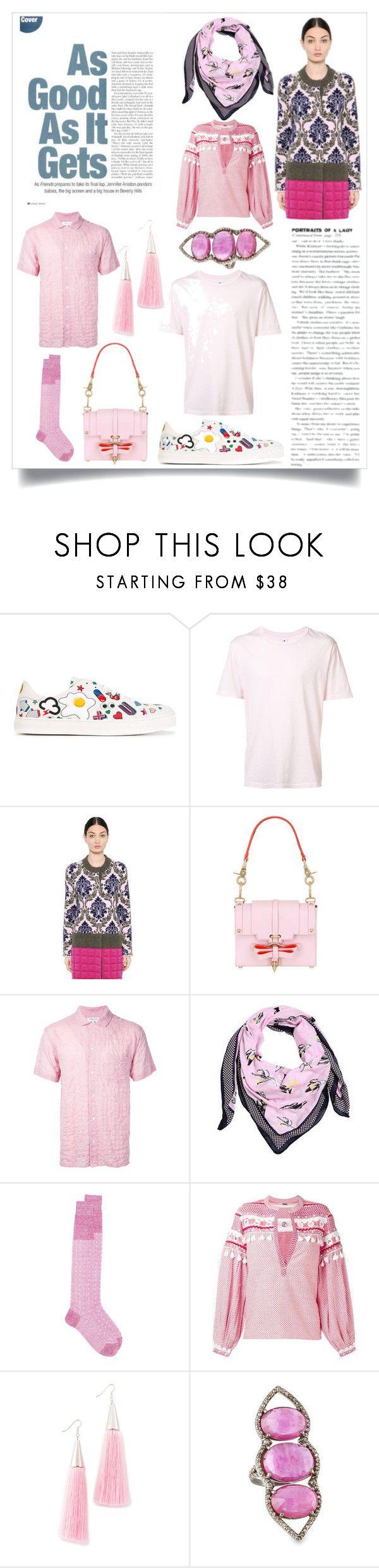 """Vintage Florals"" by ramakumari ❤ liked on Polyvore featuring Anya Hindmarch, 321, Mary Katrantzou, Niels Peeraer, YMC, Kenzo, Fashion Clinic, Dodo Bar Or, Eddie Borgo and Bavna"