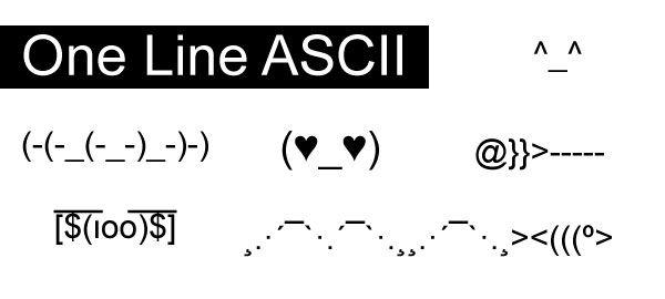 One Line ASCII Art