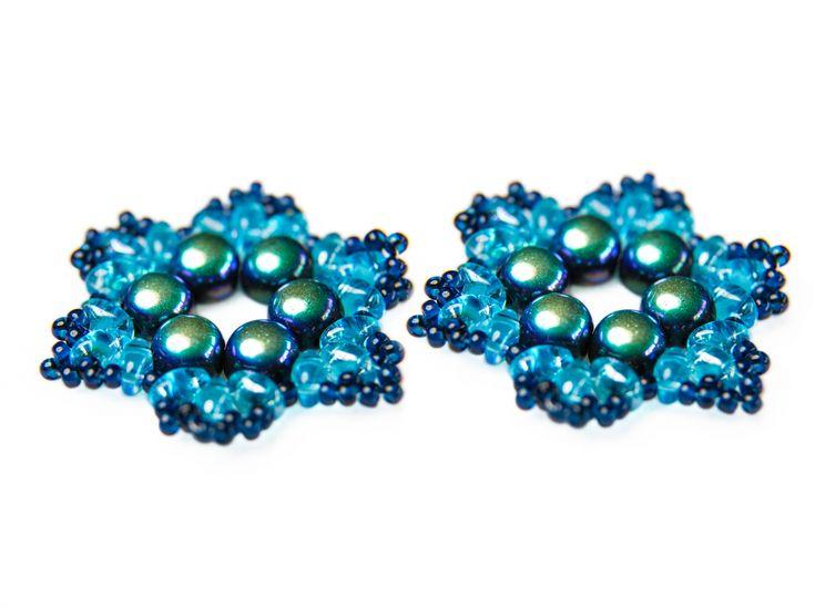 "Exclusive beading Kit for making two jewelry DIY ""Snowflake"" (Blue-Green)Decoration ""Snowflake"" diy-jewelry-beading-kit/dekoration-snowflake #scarabeads #galinacheremisina #beads #handmade #diy  #tutorial #fashion #style #gifts #snowflakes #newyear #beading #beadedjewelry #бисер #новыйгод #бисероплетение #бисероплетениедляначинающих  #бусины #снежинка #украшения #елочныеигрушки #елочнаяигрушка"