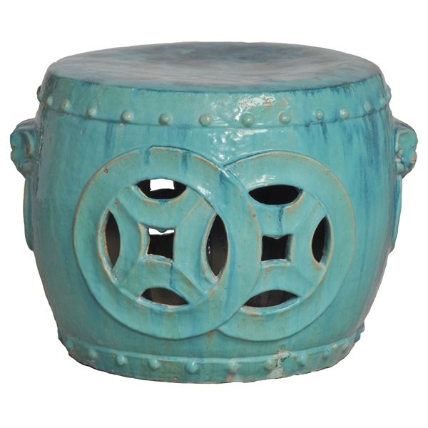 Antique Green Glaze Double Fortune Rare Garden Seat Drum - asian - outdoor stools and benches - Kathy Kuo Home  sc 1 st  Pinterest & 39 best Emissary images on Pinterest | Ceramic garden stools ... islam-shia.org