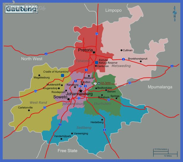 nice Pretoria Map Tourist Attractions