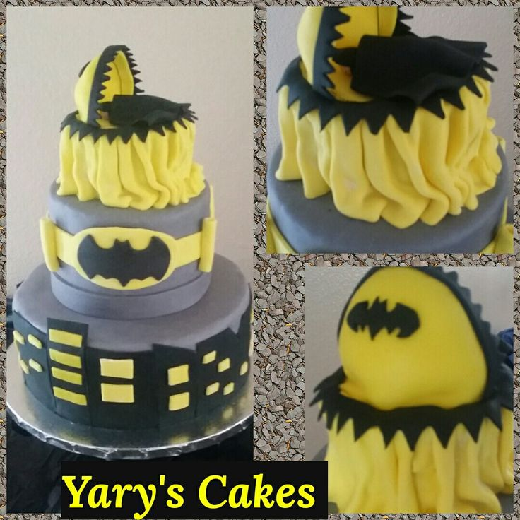 Batman Baby Shower Cake Www.facebook.com/yaryscakesandmore