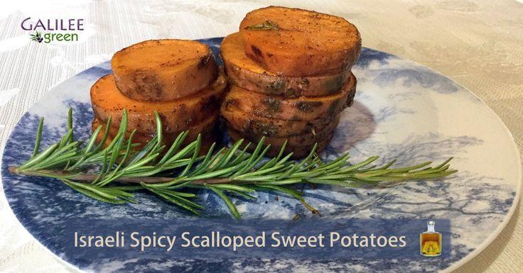 Israeli Spicy Scalloped Sweet Potatoes