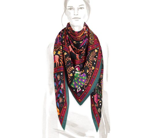 Cashmere Silk Scarf - CAPITAL HILL by VIDA VIDA AeqPkqMv