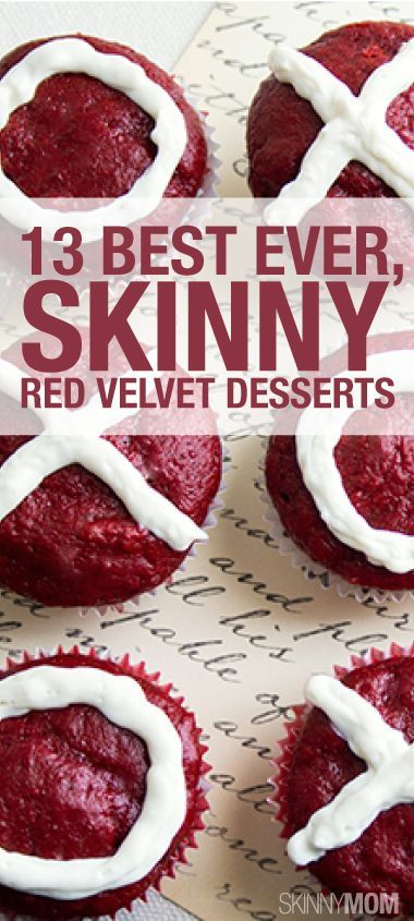 Red Velvet Desserts, Red Velvet Cupcakes, Skinny Cupcake, Skinny