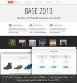 Screenshot of website template: Base 2013