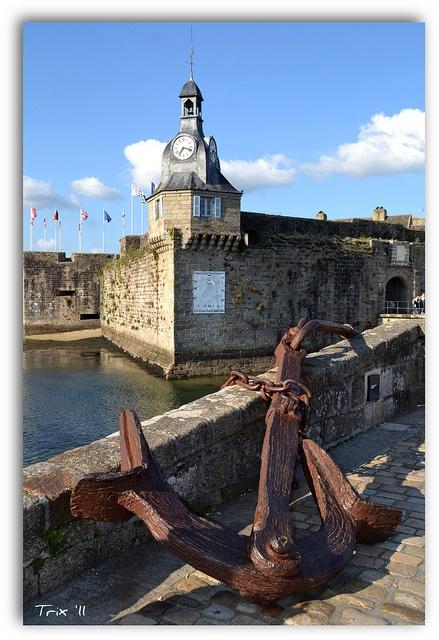 La Ville-close de Concarneau (Bretagne) - France.