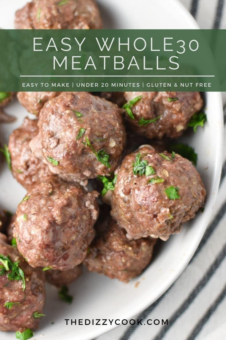 This Simple Meatball Recipe Is Whole30 Gluten Free Paleo And Super Flavorful Ground Sunflowe Meatballs Easy Meatball Recipes Easy Easy Clean Eating Recipes