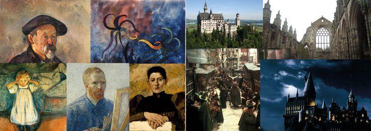 Kunst uit de jaren 1900 & kastelen (verwijzing naar Hogwarts)