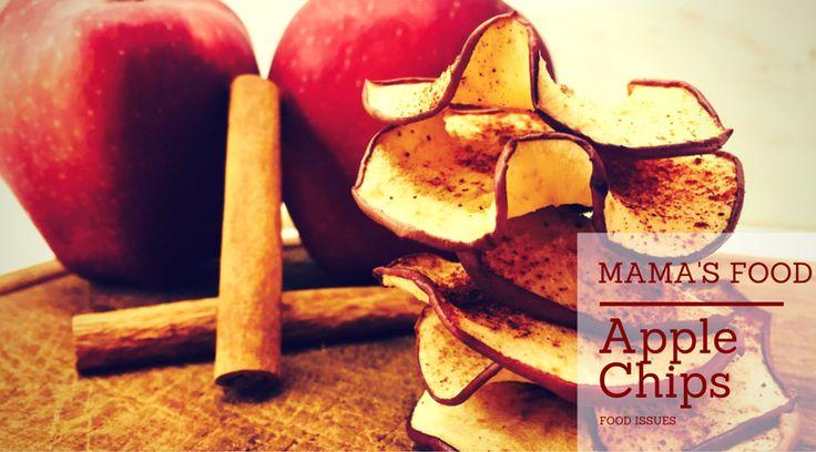 mamas food, apple chips, fitness, food, πατατάκια, μήλο