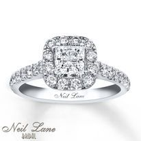 Neil Lane Engagement Ring 1-1/2 ct tw Diamonds 14K White Gold