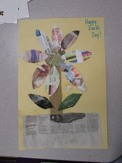 Recycled Flower Craft (from Mrs. Karen's Preschool Ideas)